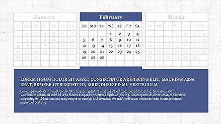 PowerPoint Calendar Template, Slide 2, 04095, Timelines & Calendars — PoweredTemplate.com