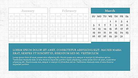 PowerPoint Calendar Template, Slide 3, 04095, Timelines & Calendars — PoweredTemplate.com