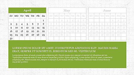 PowerPoint Calendar Template, Slide 4, 04095, Timelines & Calendars — PoweredTemplate.com