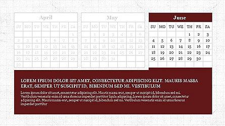 PowerPoint Calendar Template, Slide 6, 04095, Timelines & Calendars — PoweredTemplate.com