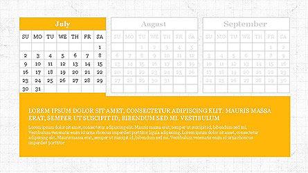 PowerPoint Calendar Template, Slide 7, 04095, Timelines & Calendars — PoweredTemplate.com