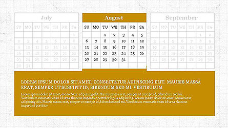 PowerPoint Calendar Template, Slide 8, 04095, Timelines & Calendars — PoweredTemplate.com