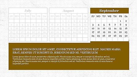 PowerPoint Calendar Template, Slide 9, 04095, Timelines & Calendars — PoweredTemplate.com