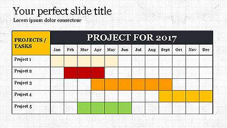 Business Models: Gantt Chart Template #04096