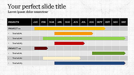 Gantt Chart Template, Slide 2, 04096, Business Models — PoweredTemplate.com
