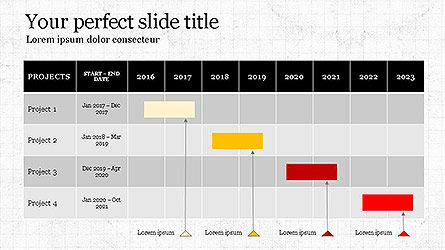 Gantt Chart Template, Slide 3, 04096, Business Models — PoweredTemplate.com