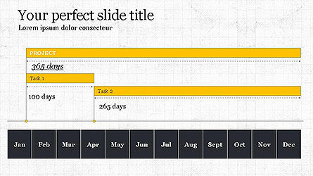 Gantt Chart Template, Slide 4, 04096, Business Models — PoweredTemplate.com