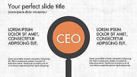 CEO Organization Chart, 04099, Organizational Charts — PoweredTemplate.com