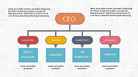 CEO Organization Chart, Slide 2, 04099, Organizational Charts — PoweredTemplate.com