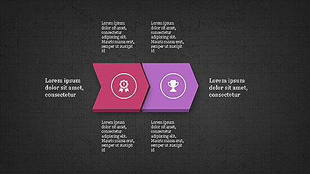 Sequential Process with Icons Presentation Template Slide 12