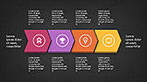 Sequential Process with Icons Presentation Template#14