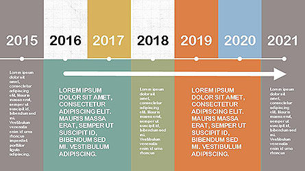 Timelines & Calendars: フラットデザインのタイムライン #04111
