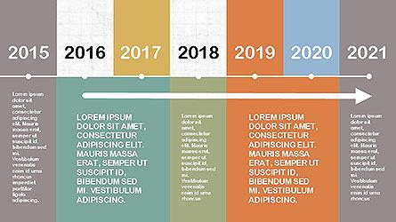 Timelines & Calendars: 평면 디자인 타임 라인 #04111