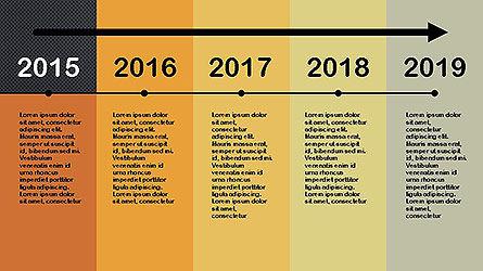 Flat Design Timeline Slide 11