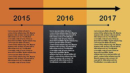 Flat Design Timeline Slide 13