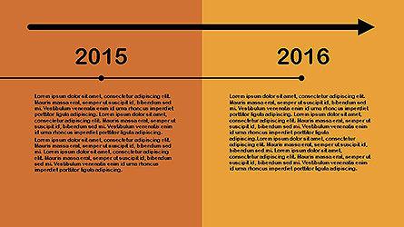Flat Design Timeline Slide 14