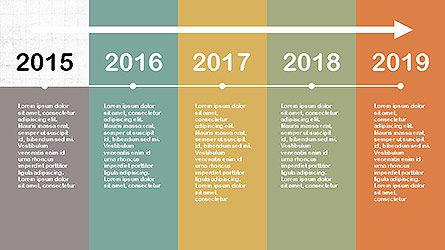 Flat Design Timeline Slide 4