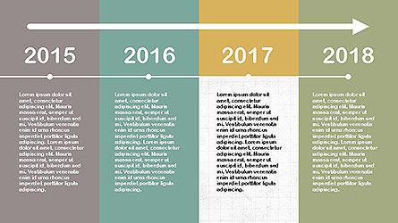 Flat Design Timeline Slide 5