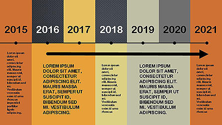 Flat Design Timeline Slide 8
