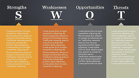 SWOT Diagram in Flat Design Slide 10