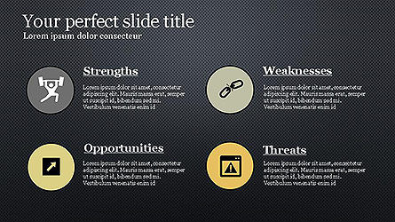 SWOT Diagram in Flat Design Slide 15
