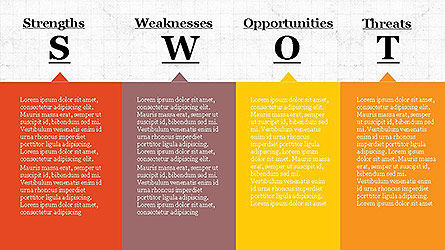 SWOT Diagram in Flat Design Slide 2