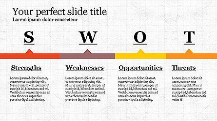 SWOT Diagram in Flat Design Slide 8