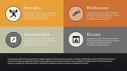 SWOT Diagram in Flat Design Slide 9