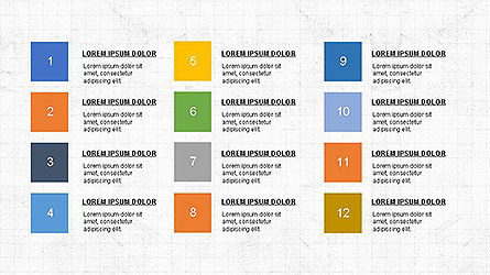 Colorful Options and Diagrams, 04127, Presentation Templates — PoweredTemplate.com