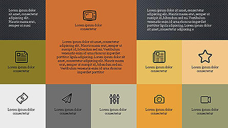 Grid Layout Brochure Presentation In Flat Design, Slide 10, 04129, Presentation Templates — PoweredTemplate.com