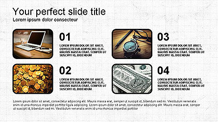Lines and Shapes Presentation Template, Slide 4, 04130, Presentation Templates — PoweredTemplate.com