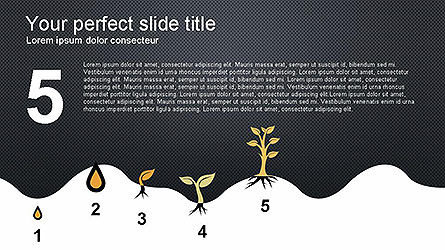 Growing a Tree from Seed Presentation Template, Slide 5, 04131, Presentation Templates — PoweredTemplate.com