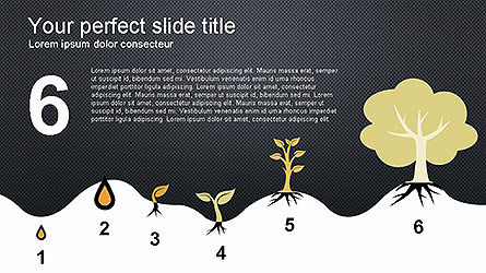Growing a Tree from Seed Presentation Template, Slide 6, 04131, Presentation Templates — PoweredTemplate.com