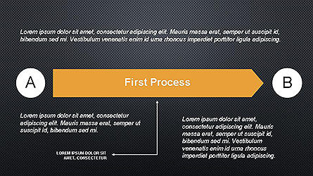 5 Step Process Diagram, Slide 12, 04133, Process Diagrams — PoweredTemplate.com