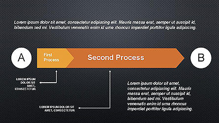 5 Step Process Diagram, Slide 13, 04133, Process Diagrams — PoweredTemplate.com
