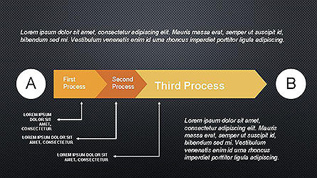 5 Step Process Diagram, Slide 14, 04133, Process Diagrams — PoweredTemplate.com