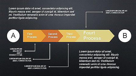 5 Step Process Diagram, Slide 15, 04133, Process Diagrams — PoweredTemplate.com