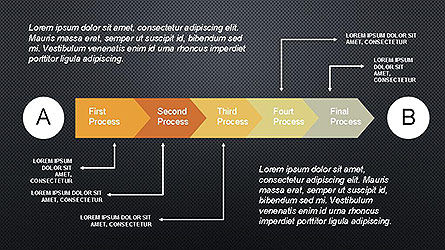 5 Step Process Diagram, Slide 16, 04133, Process Diagrams — PoweredTemplate.com
