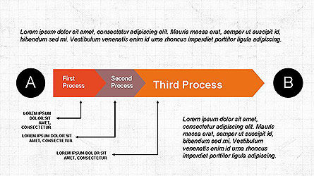 5 Step Process Diagram, Slide 6, 04133, Process Diagrams — PoweredTemplate.com