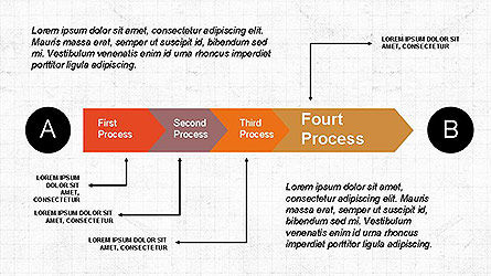 5 Step Process Diagram, Slide 7, 04133, Process Diagrams — PoweredTemplate.com