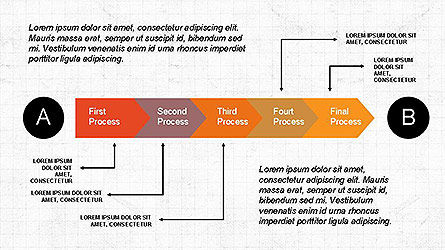 5 Step Process Diagram, Slide 8, 04133, Process Diagrams — PoweredTemplate.com