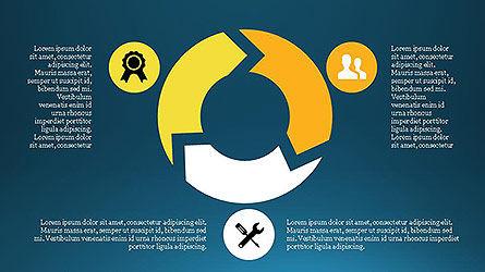 Project Management Diagram Scheme, Slide 14, 04138, Shapes — PoweredTemplate.com