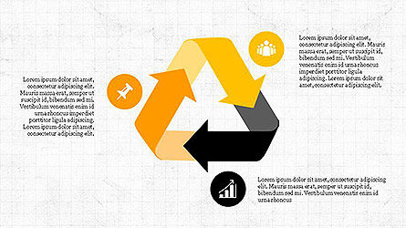 Project Management Diagram Scheme, Slide 4, 04138, Shapes — PoweredTemplate.com