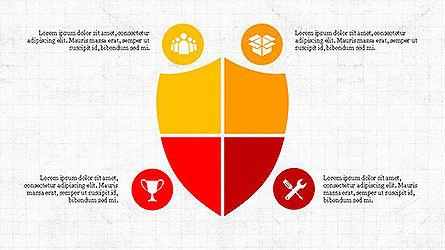 Project Management Diagram Scheme, Slide 8, 04138, Shapes — PoweredTemplate.com
