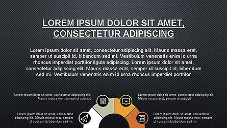 Presentation Template with Icons, Slide 10, 04141, Icons — PoweredTemplate.com