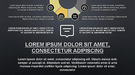 Presentation Template with Icons, Slide 11, 04141, Icons — PoweredTemplate.com