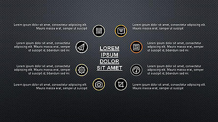 Presentation Template with Icons, Slide 14, 04141, Icons — PoweredTemplate.com