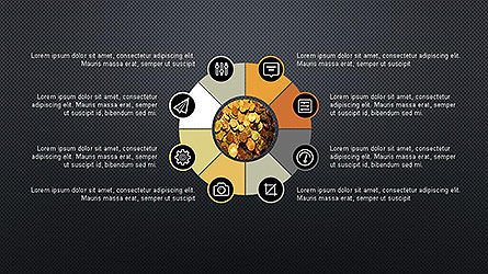 Presentation Template with Icons, Slide 9, 04141, Icons — PoweredTemplate.com