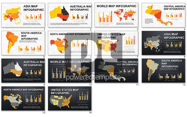 Countries Maps Infographics