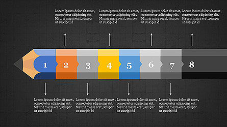 Pencil Stage Diagram Concept Slide 18